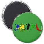 Handball gift for handball players and fans fridge magnets