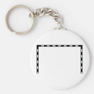 handball goal icon keychain