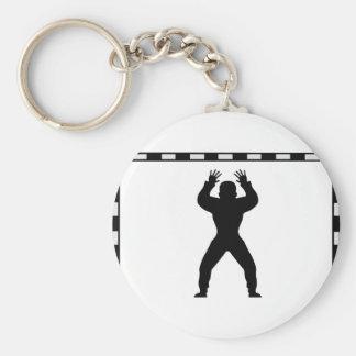 handball goal keeper icon keychain