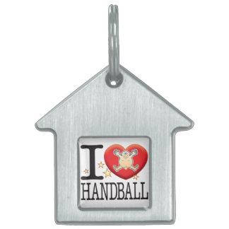 Handball Love Man Pet Tag