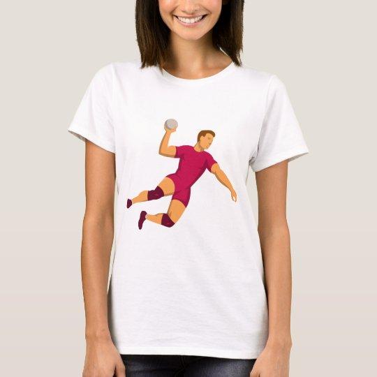 handball player jumping retro T-Shirt