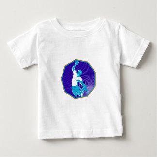 handball player jumping throwing ball baby T-Shirt