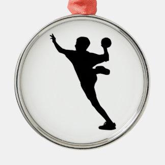 handball player metal ornament