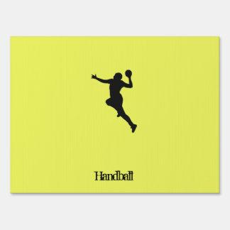 Handball Player Sign