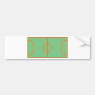 handball playing field icon bumper sticker