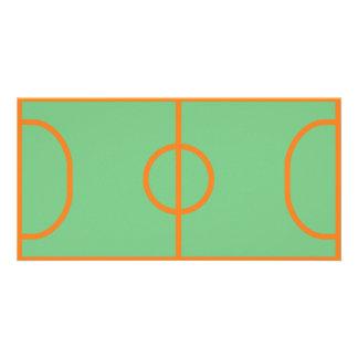 handball playing field icon card