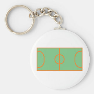 handball playing field icon keychain