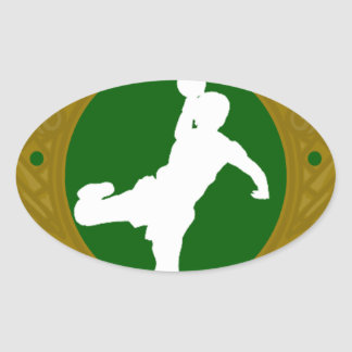 Handball.png irlandés pegatina ovalada