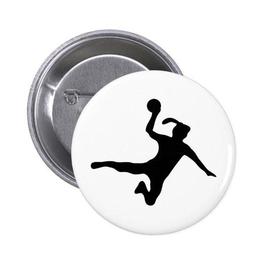 handball spielerin frauenhandball button