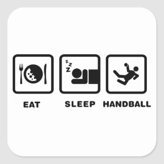 Handball Square Sticker