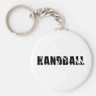 handball text keychain