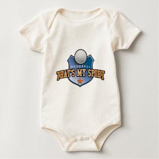 Handball - that's my sport baby bodysuit