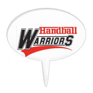 Handball warriors design cake topper