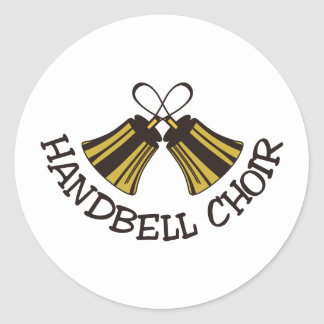 Handbell Choir Classic Round Sticker