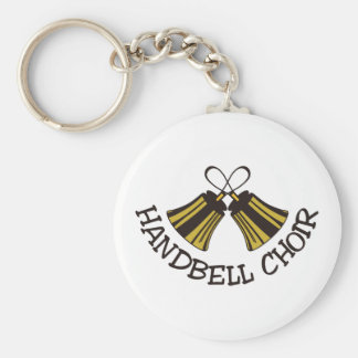Handbell Choir Basic Round Button Keychain