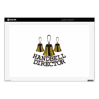 "Handbell Director 17"" Laptop Skin"
