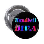 Handbell Diva 2 Inch Round Button
