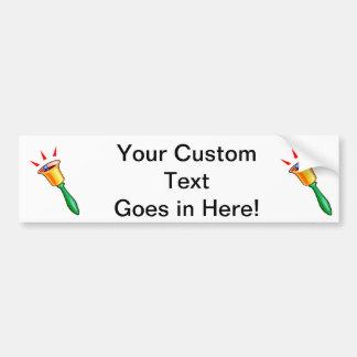 Handbell graphic image, hand chime image car bumper sticker