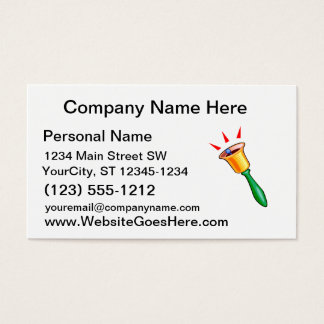 Handbell graphic image, hand chime image business card