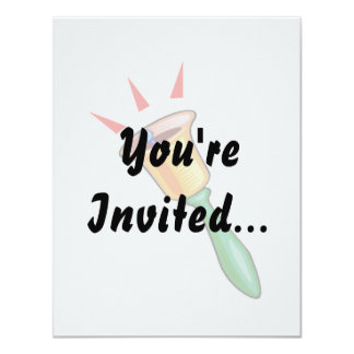 Handbell graphic image, hand chime image 4.25x5.5 paper invitation card