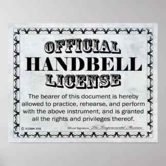 Handbell License Poster