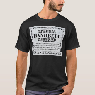Handbell License T-Shirt