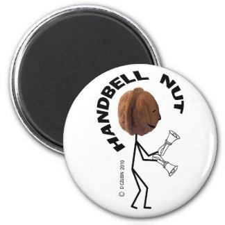 Handbell Nut 2 Inch Round Magnet