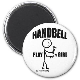 Handbell Play Girl Refrigerator Magnet