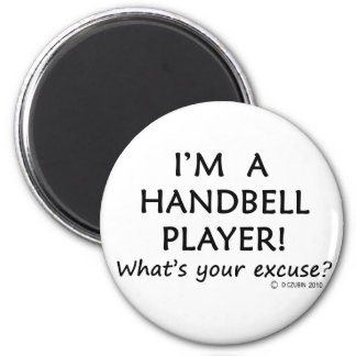 Handbell Player Excuse 2 Inch Round Magnet