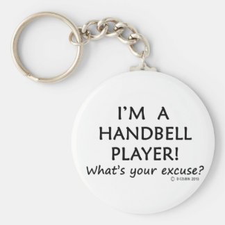 Handbell Player Excuse Basic Round Button Keychain