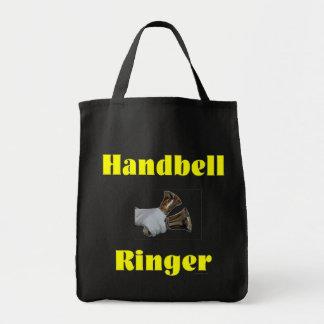 Handbell Ringer Grocery Tote Bag