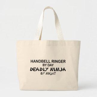Handbell Ringer Deadly Ninja by Night Jumbo Tote Bag