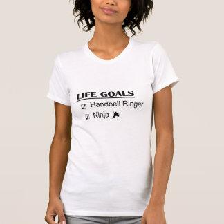 Handbell Ringer Ninja Life Goals Tee Shirts