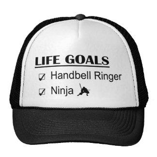 Handbell Ringer Ninja Life Goals Trucker Hats