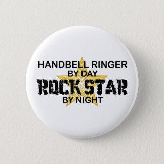 Handbell RInger Rock Star by Night Pinback Button