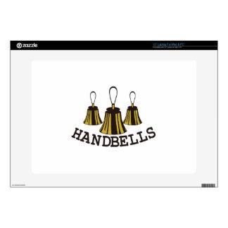 "Handbells 15"" Laptop Skin"