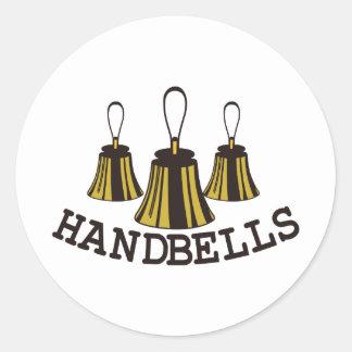 Handbells Classic Round Sticker
