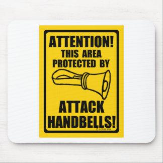 Handbells del ataque alfombrillas de raton