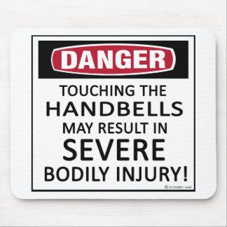 Handbells del peligro tapetes de ratón