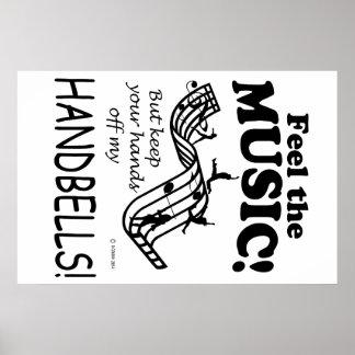 Handbells Feel The Music Poster