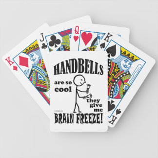 Handbells, helada del cerebro baraja de cartas bicycle
