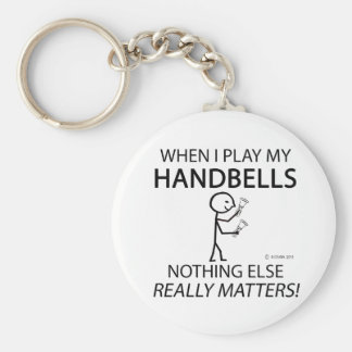 Handbells Nothing Else Matters Basic Round Button Keychain
