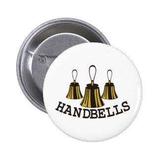 Handbells Pinback Button