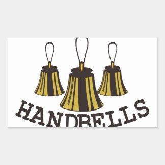 Handbells Rectangular Sticker