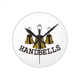 Handbells Round Clock