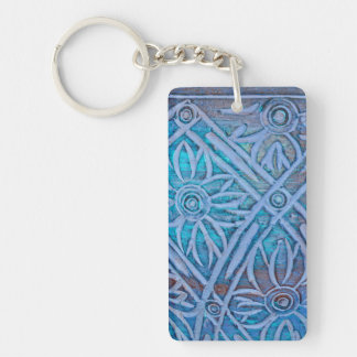 Handcrafted and Stylized SunFlowers Double-Sided Rectangular Acrylic Keychain