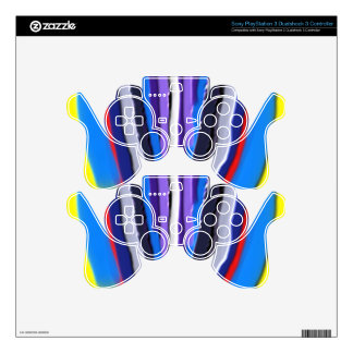 Handcrafted  Blue LOTUS Acrylic PS3 Controller Decal