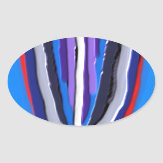 Handcrafted  Blue LOTUS Acrylic Oval Sticker