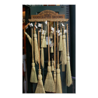 Handcrafted Brooms Print