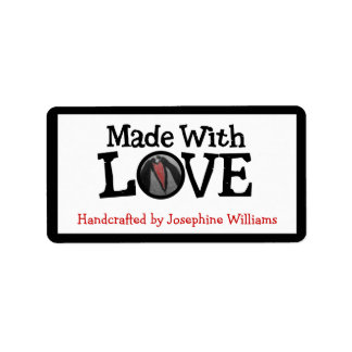 Handcrafted by and Made With LOVE Label